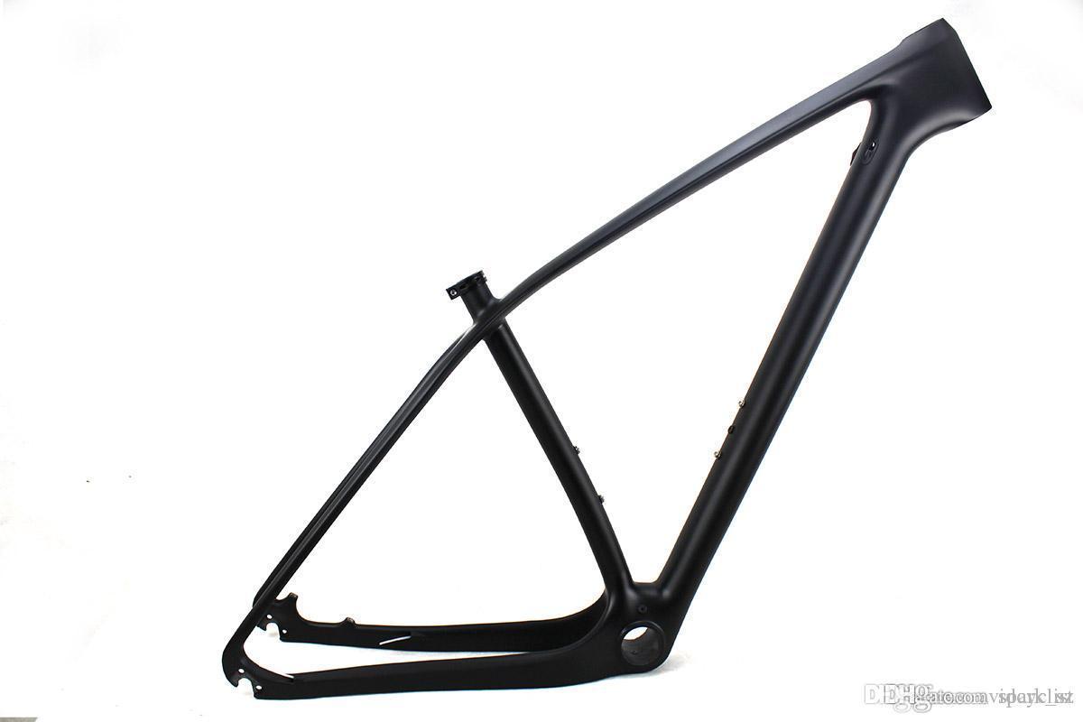 29er الدراجة الجبلية UD ألياف الكربون الإطار MTB دراجة إطارات من خلال المحور 142 * 12MM و 135 * 9MM متوافق BB PF30 مات