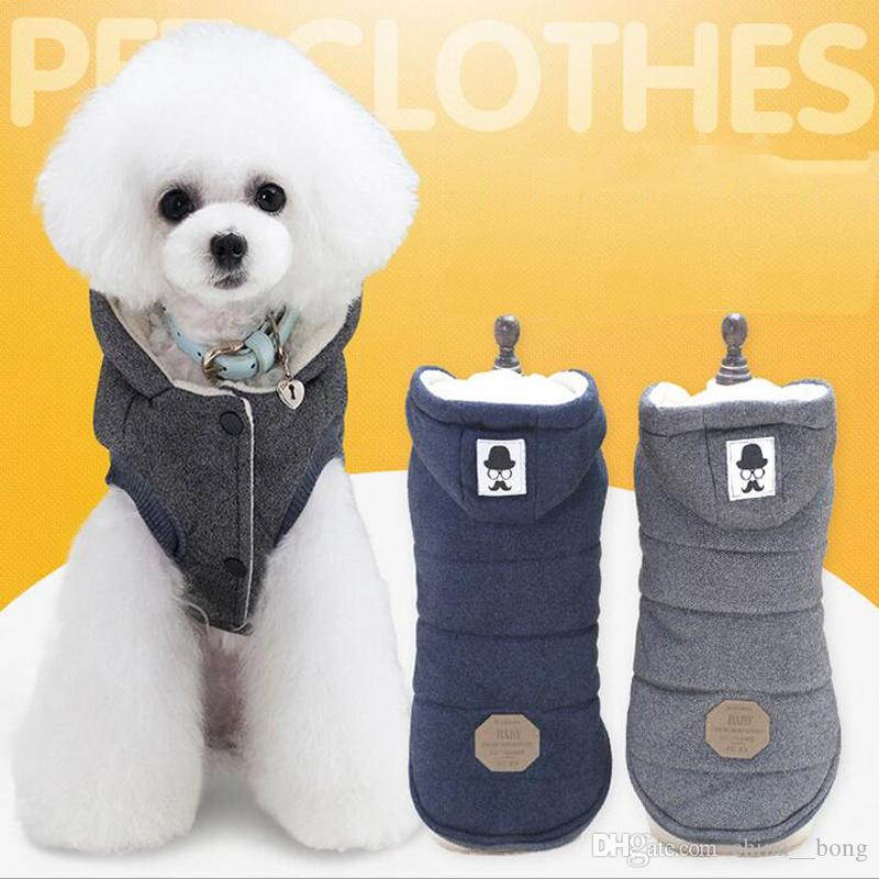 Warm Dog Clothes For Small Dog Windproof Winter Pet Dog Coat Jacket Padded Clothes Puppy Outfit Vest Yorkie S-2XL 5 Style
