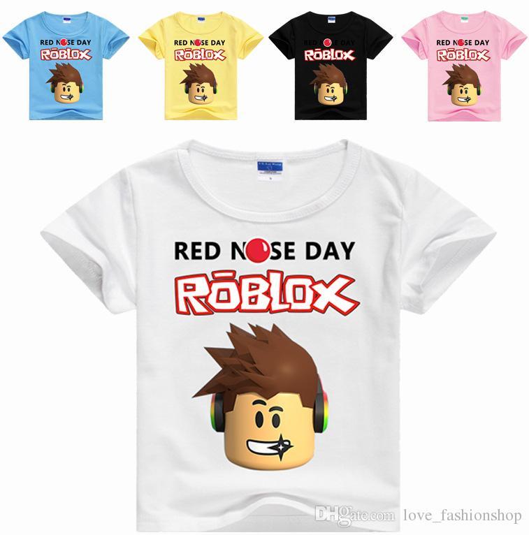 Mezcle 35 Colores Niños Niños Niñas Roblox Impresión de dibujos animados Tee Shirts Casual Botting Camisa Camiseta Pullover Halloween Cosplay Disfraces Paño