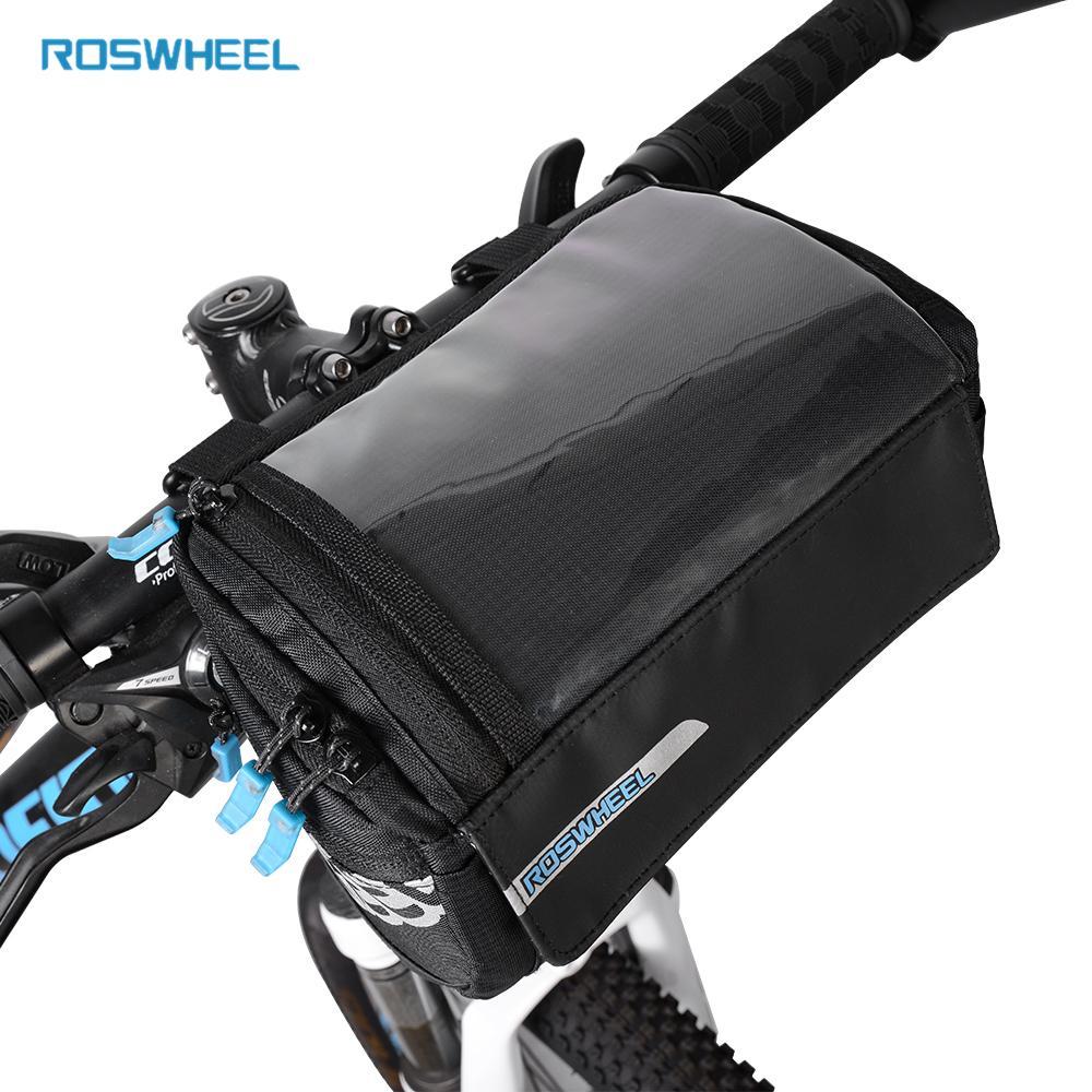 Waterproof Bicycle Handlebar Basket Bag Bike Reflective Front Pannier Tube Hot