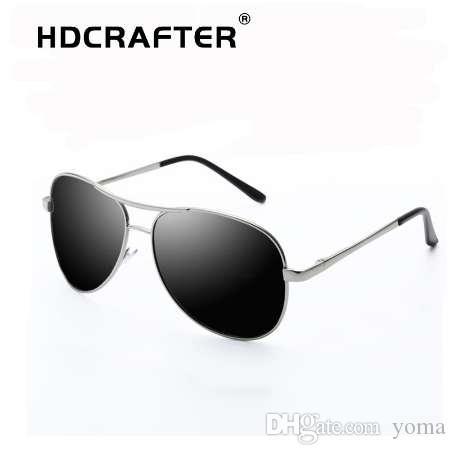 Пилот HDCRAFTER солнцезащитные очки мужчины UV400 поляризованные высокое качество ретро солнцезащитные очки мужчины поляризованные вождения солнцезащитные очки для мужчин