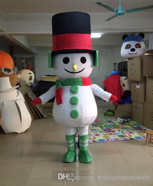 2018 heißer Verkauf EVA Material Schneemann Maskottchen Kostüme gehen Cartoon Bekleidung