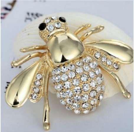 Animal lindo abeja broche pequeño pin bufanda decoración cuello cuello broches joyería