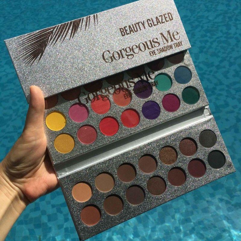Date de haute qualité Beauté Glazed Eyeshadow Palette 63 Couleurs paillettes fard à paupières Palette strelitzia Cosmétiques livraison gratuite