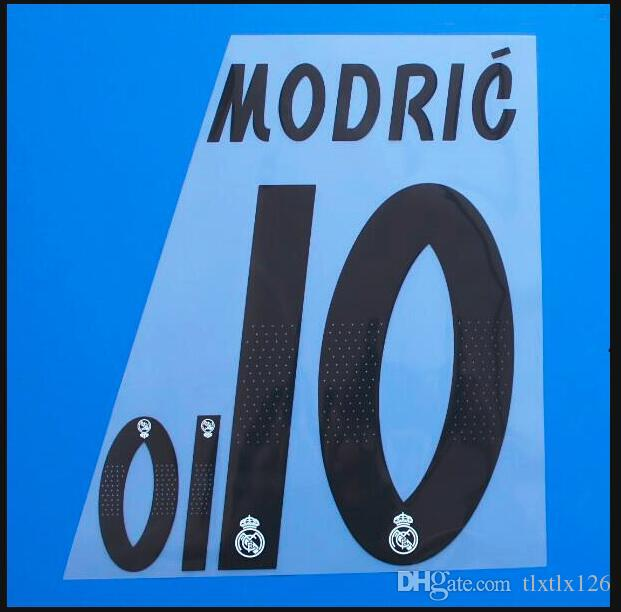 2018-2019 Real Madrid Ev / Dışarıda Özel futbol Yeni Nameset Özelleştirmek Numarası 0-9 Adı A-Z Baskı Oyuncu nameset Yama