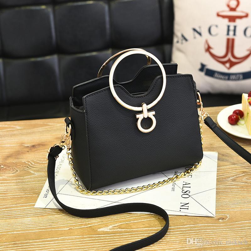 laides hotsale bourse des célèbres sacs à bandoulière de messager d'embrayage femmes de la marque du soir poignée métallique chaînes occasionnels petits sacs à main