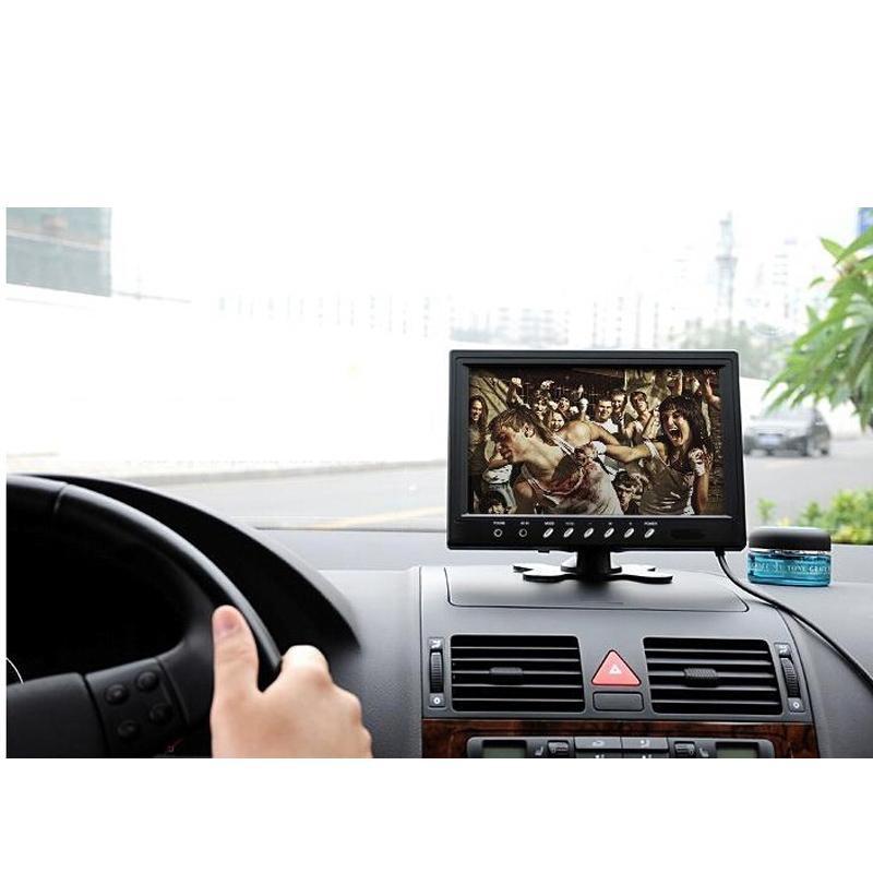 DHL 5PCS 9 pulgadas HD 2 Entrada de video 2 Pantalla de video cuádruple dividida Monitor TFT LCD para automóvil Vista posterior Monitor