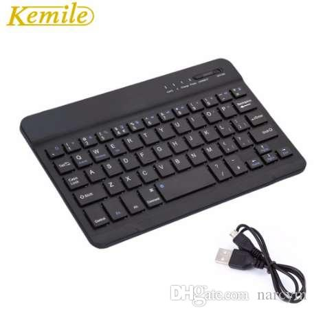 Kemile Ultra Slim Tragbare Wireless Bluetooth Aluminium-Tastatur mit Micro-Ladeanschluss für Dell Venue 8 Pro 8-Zoll-Tablet