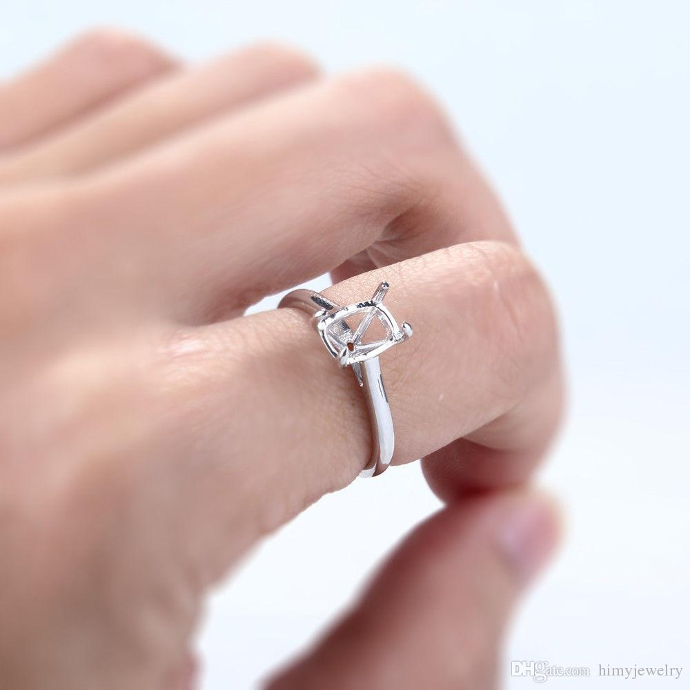 2018 Semi Mount Solitaire Engagement Wedding Sterling Silver 925 ...