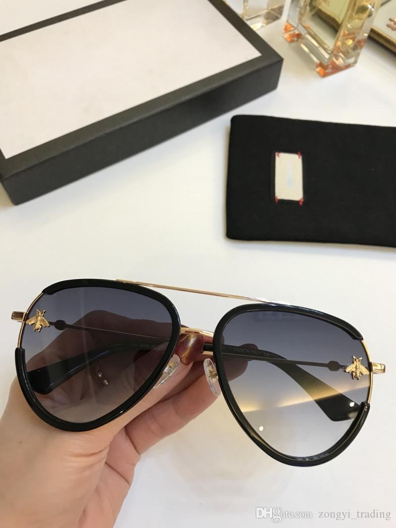 Новый высокое качество 2209 мода пилот солнцезащитные очки для женщин летний стиль с пчелами УФ-защита с оригинальной коробке