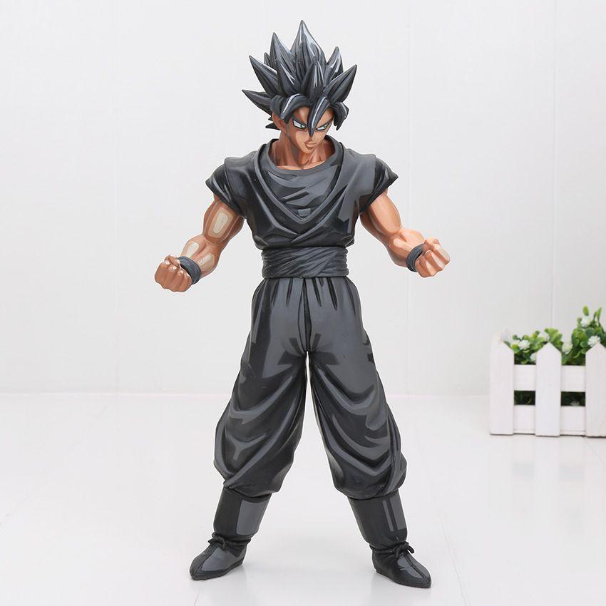 Eylem 26cm Dragon Ball Z Super Saiyan Son Goku Vegeta Gohan Msp Usta Yıldız Piece Goku Siyah Çikolata Pvc Eylem Şekil Oyuncak