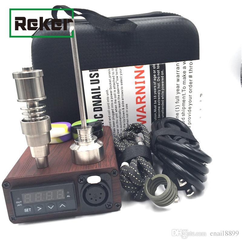Colorful Titanium Quartz ENAIL E Dab Nail PID Temperature Control Kit Wax Vaporizer 14 18MM Oil Rig Box Glass Bong