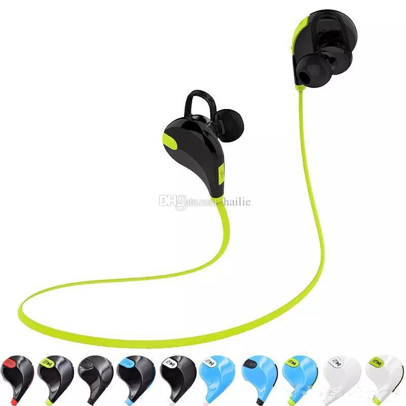 In-ear Headset Sport Earphone QY7 4.1 Wireless Microphone Running Sport Headphones Cancelling Stereo With Retail Package