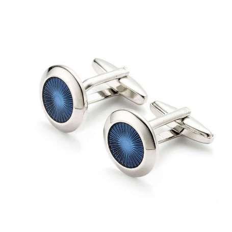 Vagula Gemelos azules Gemelos de lujo Gemelos de boda Camisa francesa Gemelos hombres Joyería 277