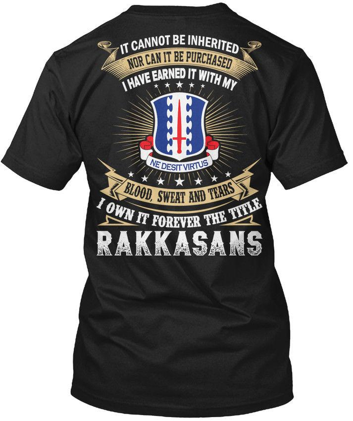 Rakkasans - It Cannot Be Inherited Nor Can Purchased I Wholesale Cool Casual Sleeves Cotton T-Shirt Fashion New T Shirts Tagless Tee T-Shirt