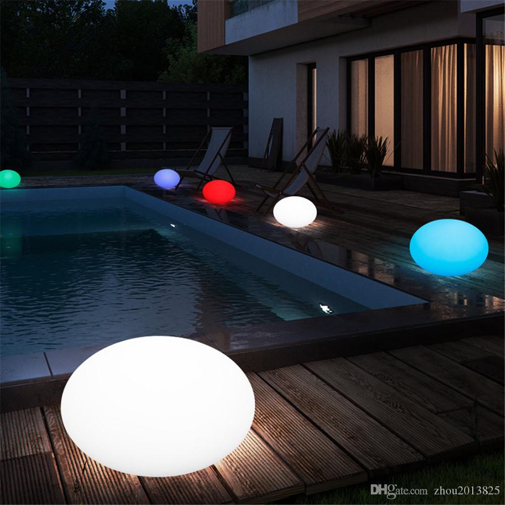 Creativa LED con control remoto colorido esfera brillante - al aire libre a prueba de agua - plana bombilla forma de bola brillo - 28 * 28 * 17