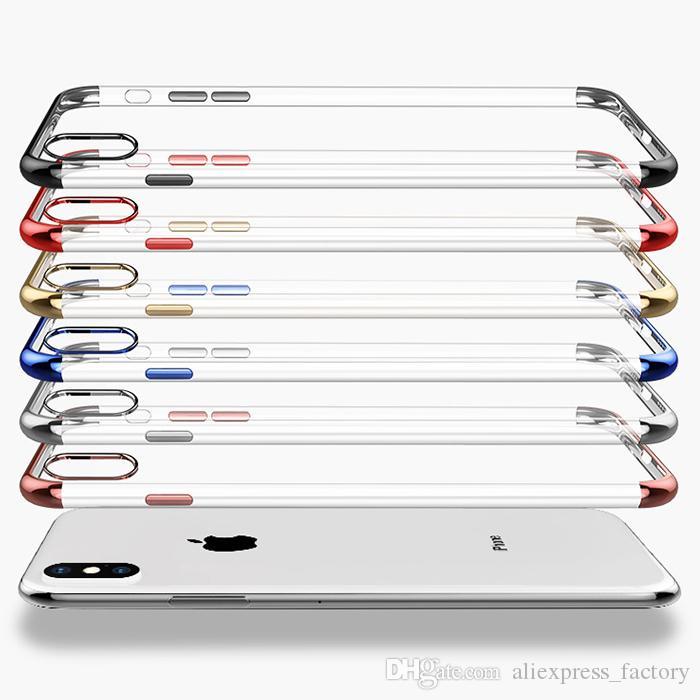 3 아이폰 (11) 프로 맥스 XS XR X 8 7 6 6S 플러스 충격 방지를 들면 (1) 전기 도금 도금 소프트 TPU 젤 고무 실리콘 맑고 투명 커버 케이스에