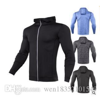 Uomini cappotto giacca invernale veloce asciutta stretto calore traspirante in esecuzione abbigliamento abbigliamento fitness riflettente sudore sottile maglione a maniche lunghe
