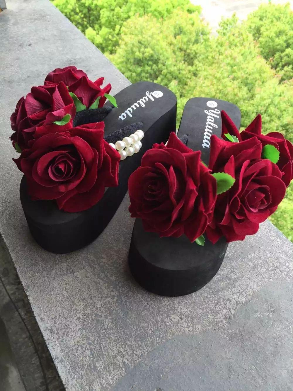 도매 꽃 슬리퍼 여성 슬리퍼 여성용 비치 플레어 신발 여성용 플러스 사이즈 35-44 여성용 플립 플롭