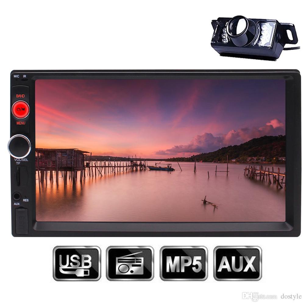 EinCar Bluetooth Car Stereo 7 '' Universal 2 Din HD MP5 Player Radio Multimedia Entretenimiento USB / TF FM AUX Entrada Pantalla táctil digital