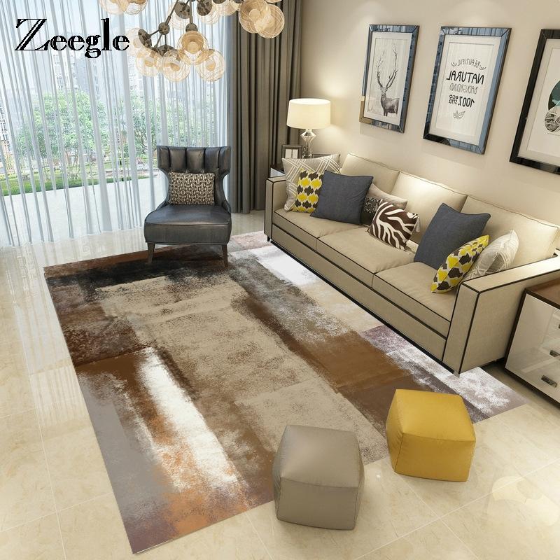Zeegle الحديثة السجاد الكلمة حصيرة لغرفة المعيشة غرفة نوم الاطفال سجادة طاولة القهوة حصيرة bedrooom منطقة البساط الجاكار ديكور السجاد
