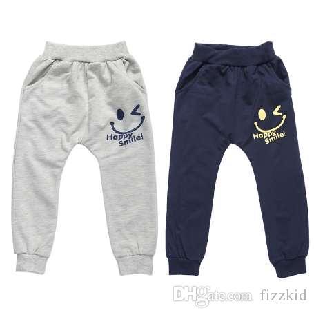 Дети дети мальчики брюки правда улыбка лица печати эластичные брюки мальчики весна лето повседневные брюки Брюки для 3-7Y мальчиков