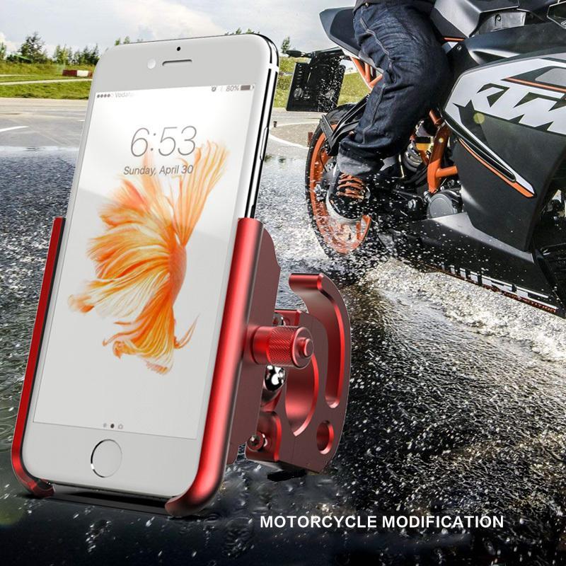 BuzzLee 5 colori alluminio anti scivolo rotazione a 360 gradi universale moto bicicletta bici manubrio supporto del telefono per iphone x 8 c18110801