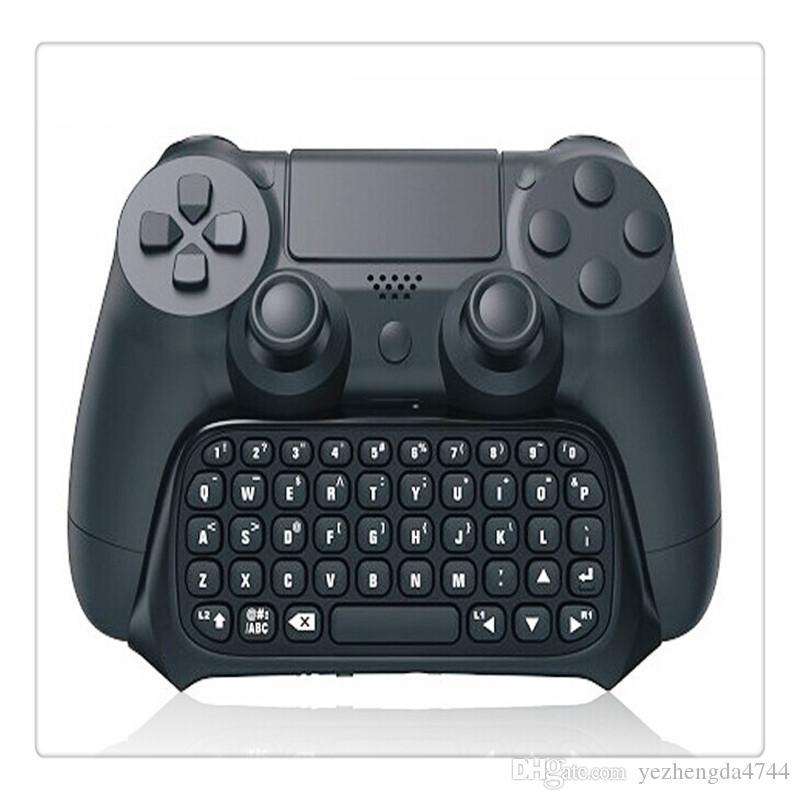 TP4-008 للوحة المفاتيح اللاسلكية Bluetooth المصغرة للبلاي ستيشن 4 مع لوحة مفاتيح مقبض PS4 وجهاز تحكم ألعاب PS4