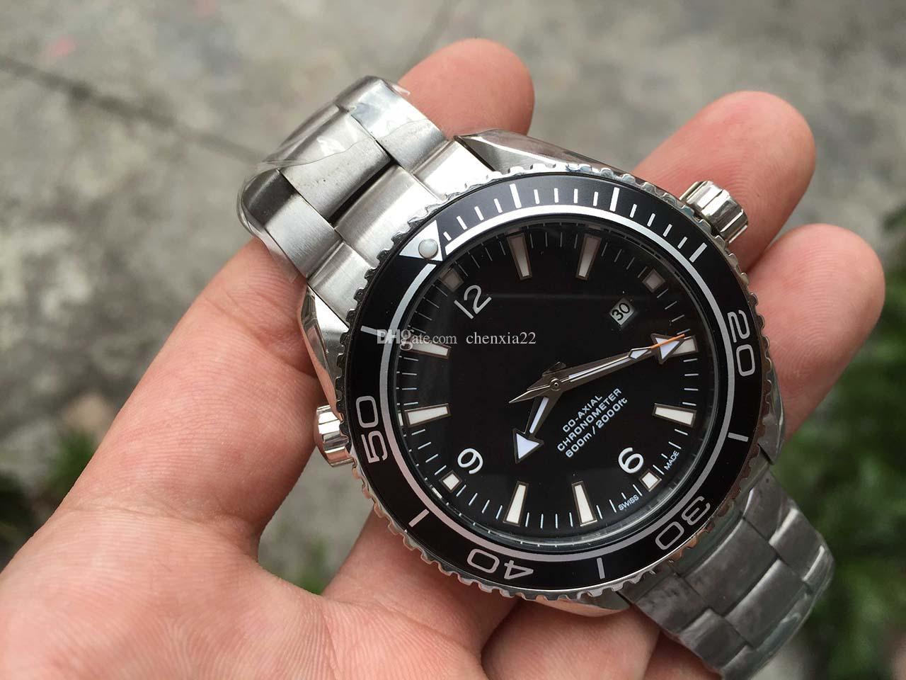 2019 Novos Relógios De Pulso Relógio de Moda de Alta Qualidade Mostrador Preto Movimento Mecânico Automático dos homens Inoxidável Assista Homens Relógios OME30