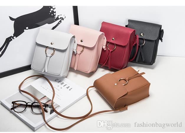 2018 new fashionTassel Mini mobile phone change messenger bag Plain women trend single shoulder cross body
