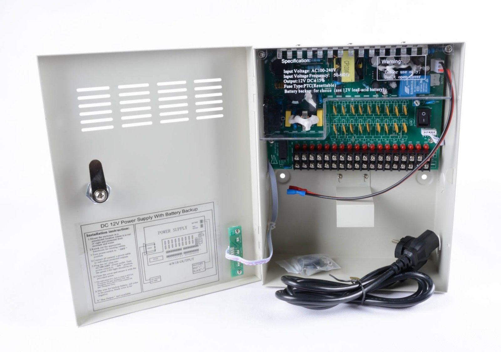High Quality CE RoHS Uninterrupted CCTV power supply box 9CH 18CH 12V 10A Uninterrupted 9 Channel 18Channel for CCTV Camera