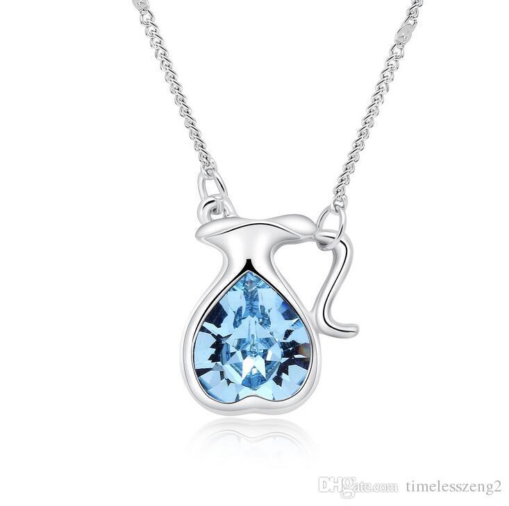 Elegante doze constelações pingente de colar clavicular cadeia menina aniversário agradável presente jóias 12 estilo navio livre