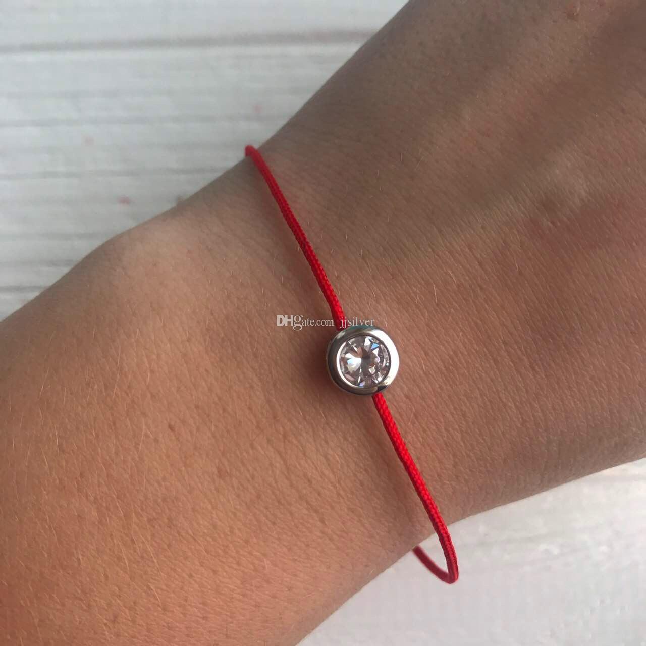 Kırmızı Dize Bilezik Anlamı Ile Zirkon 925 Ayar Gümüş Halat Bilezik Şanslı Kırmızı Konu Kadınlar Için Bilezikler Takı