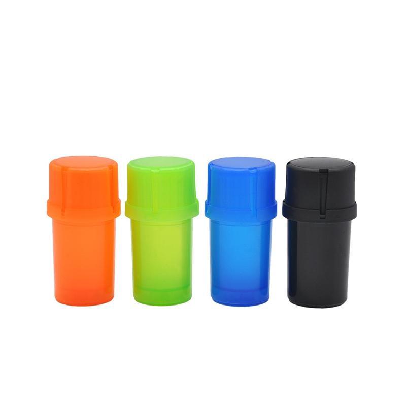 Bottiglia Colorful Cup Forma 47MM Plastica Herb Grinder Spice Miller Crusher di alta qualità Bella Design unico più colori Usi
