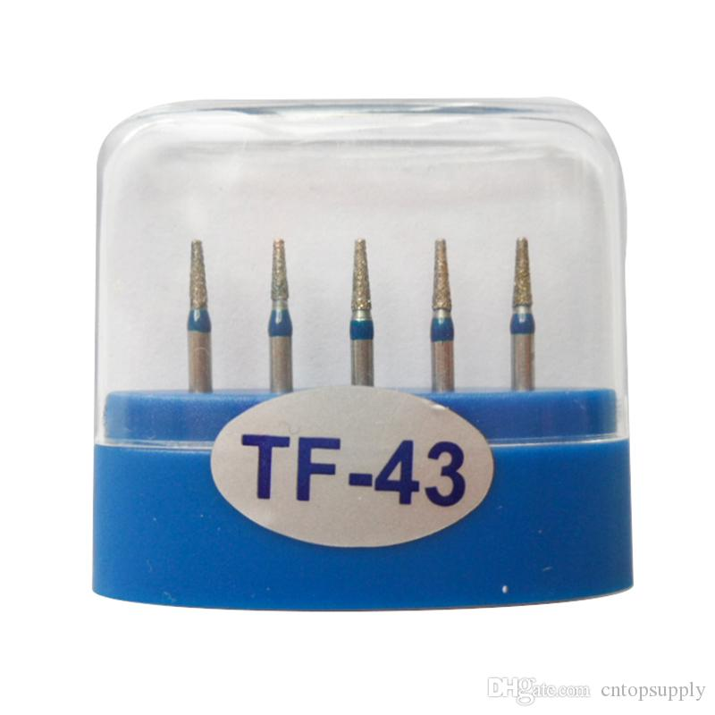 1 paquet (5pcs) fraises diamantées dentaires TF-43 moyen FG 1.6M pour pièce à main dentaire haute vitesse nombreux modèles disponibles