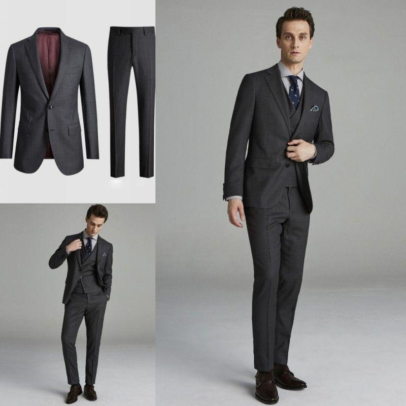 Kıdemli Siyah Çentikli Yaka Terbiyeli Rahat Iş Smokin Iki Adet (Blazer + Pantolon) Düğün Bestmen Takım Elbise Damat Giyim Seti