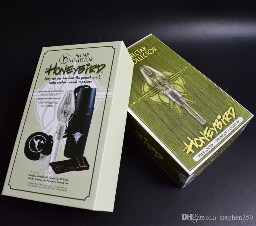 Usine de vente directe Nectar Collector V4 Kits avec fil titane en céramique tuyaux Concentré Quartz Conseils ongles