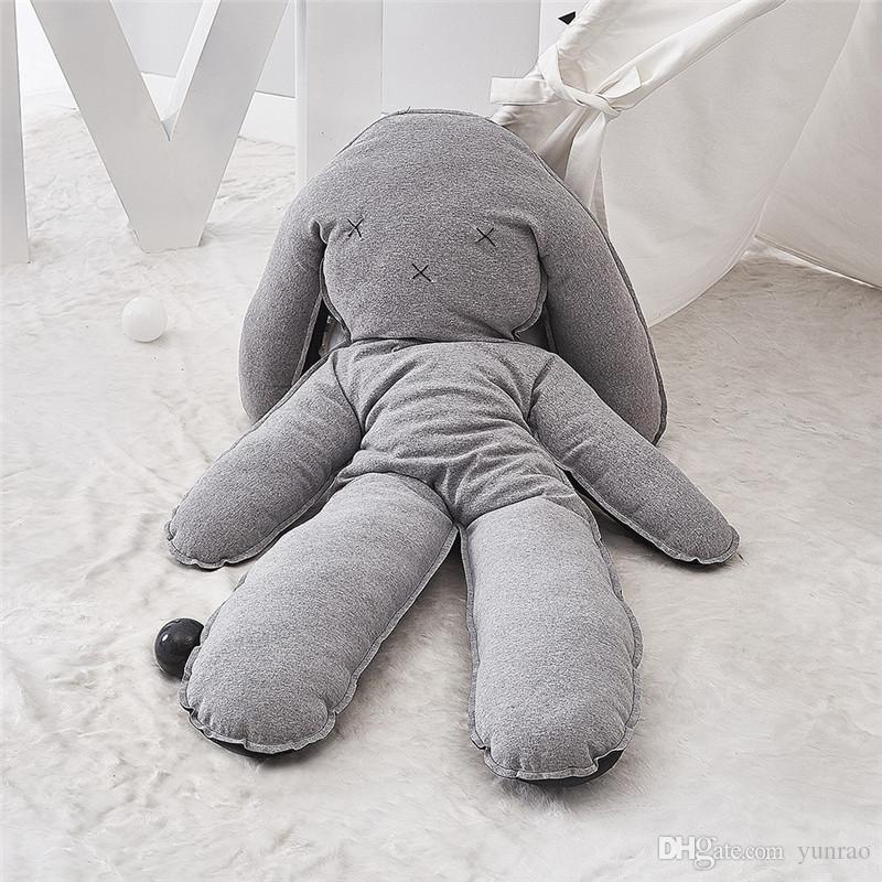 del juego del bebé estera del bebé del conejo acolchada sala de las niñas de juguete alfombra niños del algodón de la decoración de vivero amigo almohada grande creativo para niños de color gris