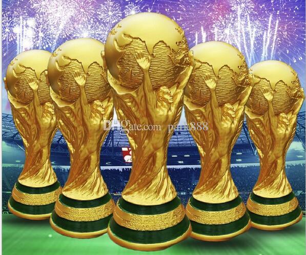 Titan Cup Artware Resina Modelo 21 cm 27 cm 36 cm 44 cm Rússia Copa do mundo de futebol troféu Fãs de Lembrança presente DHL Rápido entregue! Apoie sua equipe !!