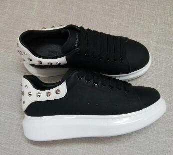 2018 Designer De Luxo Homens Sapatos Casuais Melhor Alta Qualidade Das Mulheres Dos Homens de Moda Sneakers top camada de couro Sapatos Leve Tênis # 86