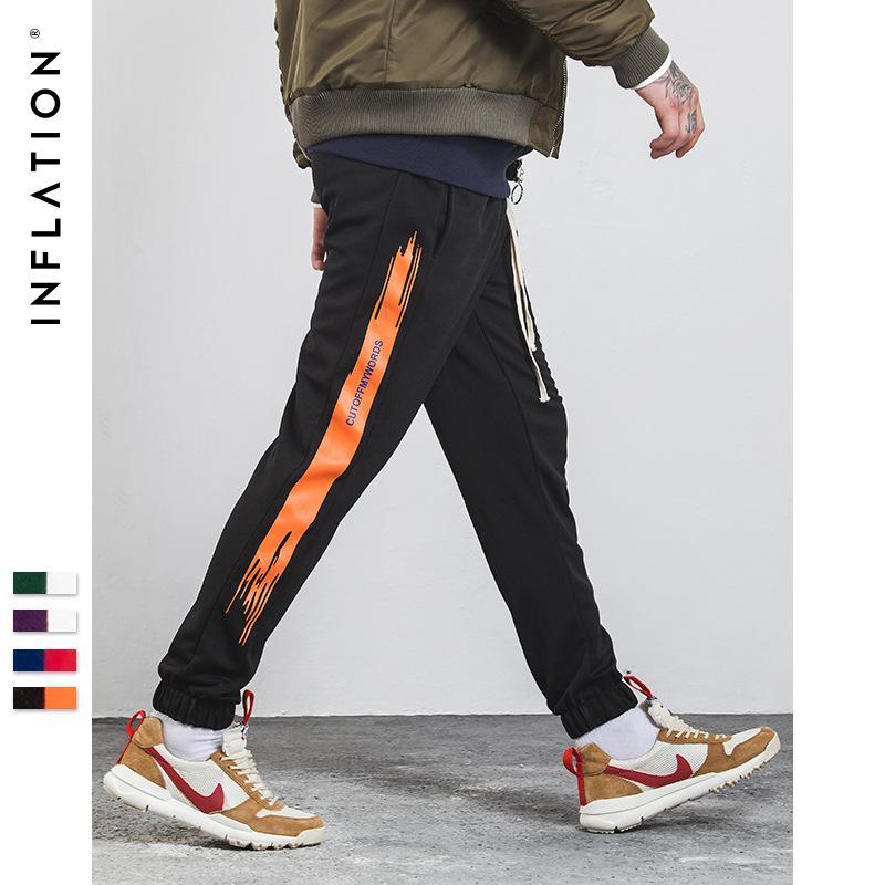 INF Erkek Giyim | 2018 Yeni Sonbahar Elbise Hindistan Cevizi Desen İngilizce Alfabe Şort erkek Tayt Casual Spor Pantolon.
