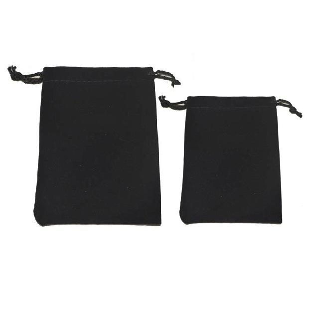 10*12cm 10pcs black velvet bag for jewelry pouch gift bag package with drawstring bag wedding/necklace diy women Flannel Display