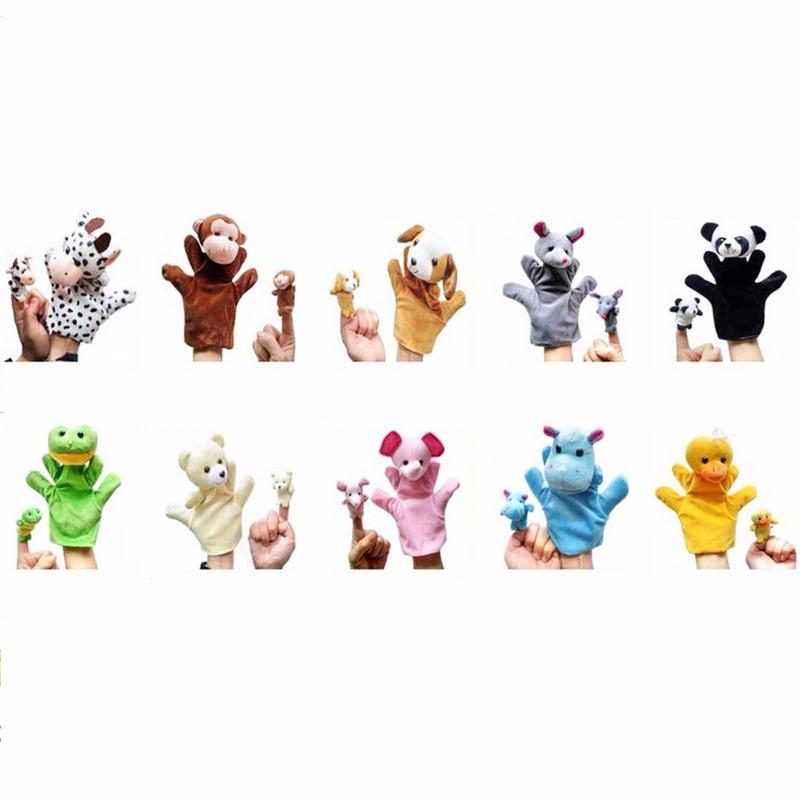 20pcs/lot Baby Reborn Finger Puppets Hand Puppet for Kids Plush Cute Cartoon Finger Plush Doll Set Hand Puppets Boby Toys