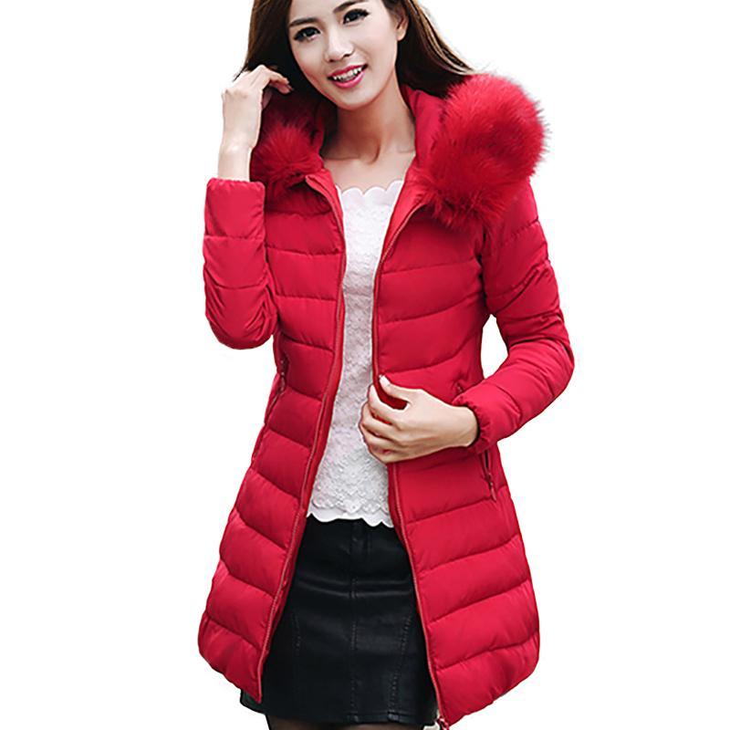 Winter Jacket Women 2018 Fashion Female Warm Hooded Down Cotton Padded Parkas For Women's Winter Jacket Coat Plus Size 5XL 50 S18101505