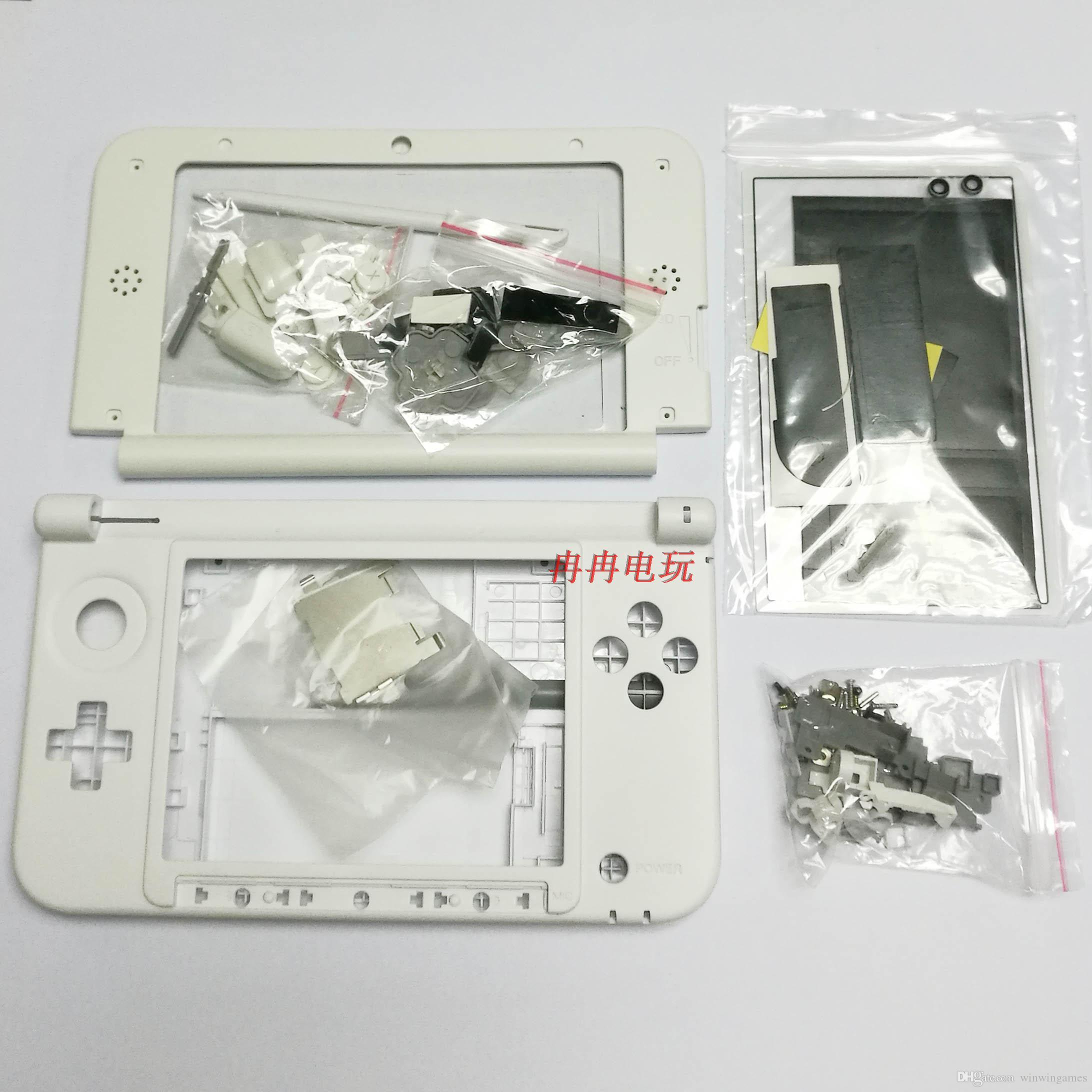 white color For 3DS XL/LL Shell black Game Console replacement full housing cover case with Buttons free shipping