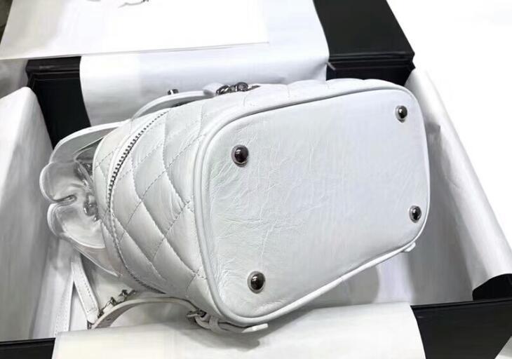 6134da401730 A57824 White. AAAAA A57824 22cm Crumpled Calfskin PVC Resin&Silver-Tone  Metal Flap ...