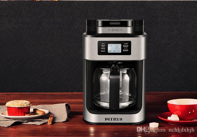 Chinaguangdong Petrus casa totalmente automático de grãos de café / café poder moedor PE3200 doméstico gotejamento cafeteira Café máquina 1.2L 110-220-230 v