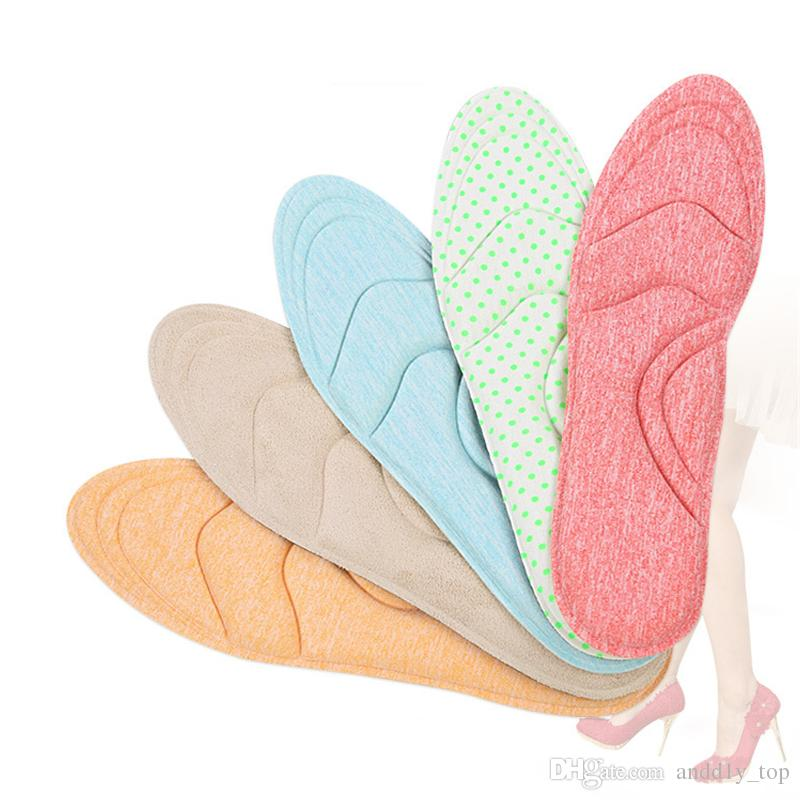 Upgraded section 4D high heels cushion female summer breathable anti-pain sweat-absorbent massage soft single shoes thick sponge arch pa