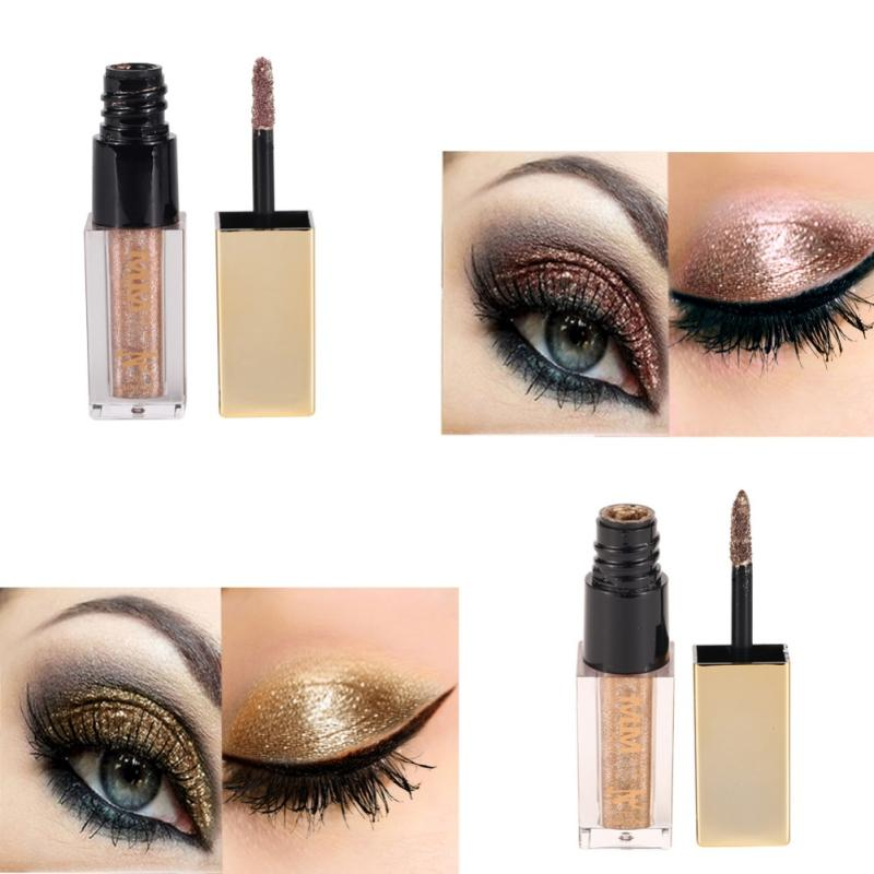 6 Colors New Diamond Glitter Liquid Eyeshadow Beauty Makeup Cosmetics Shimmer Eye Shadow Waterproof Products