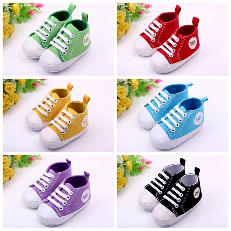 Factory Price Sale Mix Color Wholesale 100 Pairs 0-1 Year Baby Girls Boys First Walkers Sneakers Non-slip Soft Bottom Toddler Shoes